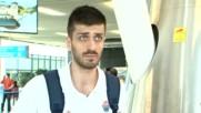 Станимир Маринов преди заминаването за Чехия