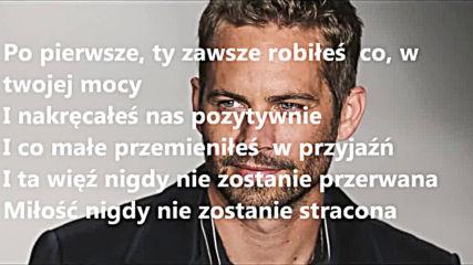 Wiz Khalifa See You Again feat Charlie Puth Tlumaczenie Po Polsku Pl 2020 Hd