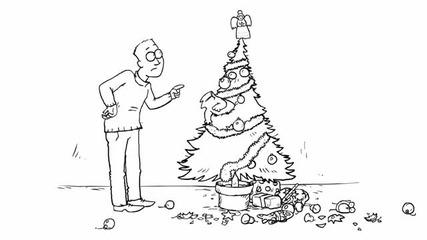 Santa_claws_-_simons_cat Коледен епизод