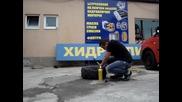 Помпане на Atv гума