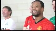 Манчестър Юнайтед - Коледно предизвикателство 2012.патрис Евра, Давид Де Геа, Дарън Флетчър
