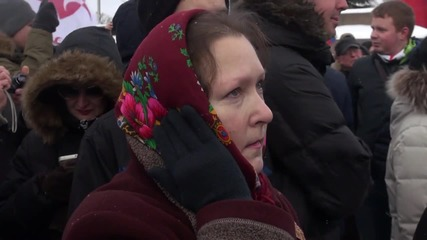 Russia: Hundreds mark anniversary of Nemtsov's death with rally in St. Petersburg