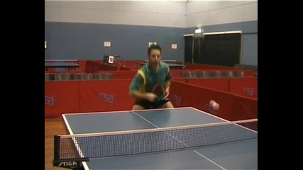 Уроци по тенис на маса - Теглене от бекхенд