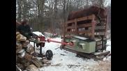 Да си направиш сам машина за цепене на дърва