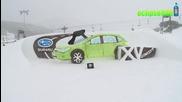 Кола направена от Сняг