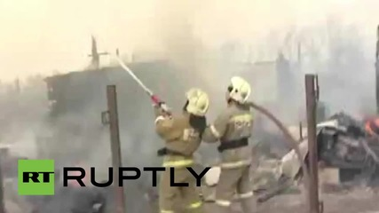 Russia: Firefighters battle deadly Khakassia wildfires