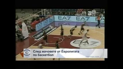След мачовете от Евролигата по баскетбол