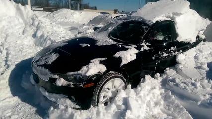 Ето така се излиза от сняг с Bmw 320i xdrive drive