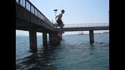 Парапет от моста в Бургас
