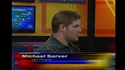 The Rapping Weatherman interviews American Idol star Michael Sarver