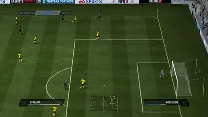 Fifa 11 Real Madrid vs. Arsenal full gameplay trailer
