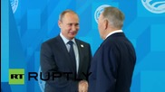 Russia: Putin welcomes heads of central Asian states to SCO summit