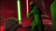 Star Wars- The Clone Wars - Yoda & Anakin vs. Dooku & Sidious [1080p].