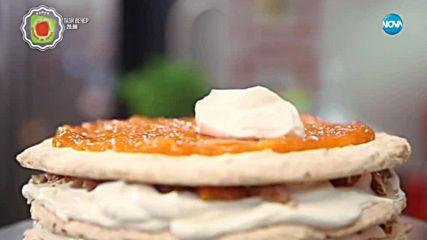 Торта с бадеми и кайсии - Бон Апети (30.05.2018)