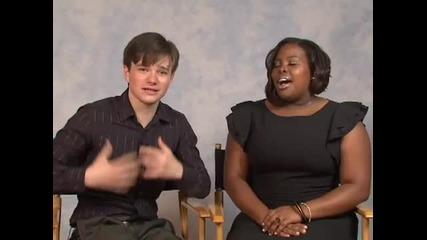 Кастинг за Glee Chris Colfer and Amber Riley