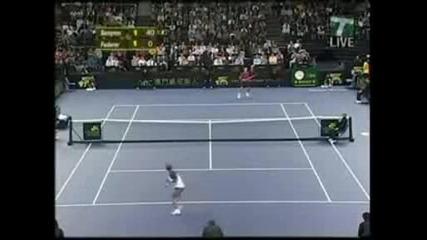 Двама велики играчи: Федерер срещу Сампрас