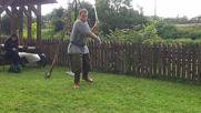 Демонстрация на техники с два меча