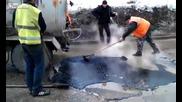 Руските чудеса на пътя - иновативен метод за кърпене на дупки