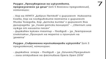 Награди  ,, Пловдив ,, 2020