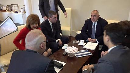 Борисов и Горанов на среща с представители на бизнеса заради новите касови апарати