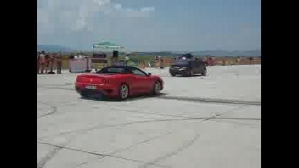 Божурище - Mercedes Cls Vs. Ferrari Modena
