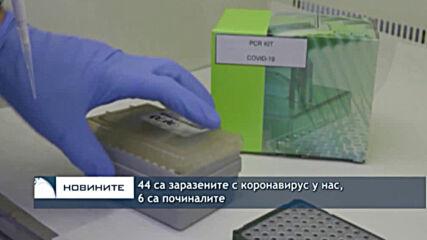 44 са заразените с коронавирус у нас, 6 са починалите