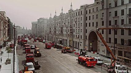 Как ремонтират улиците в Москва