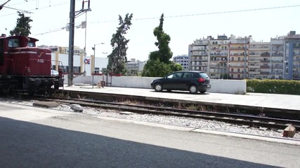 Маневрен гръцки локомотив