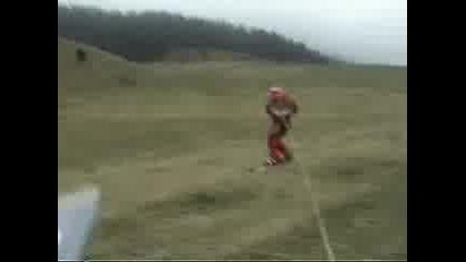 Сноуборд На Рожен В Тревата