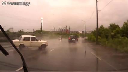 Бързата реакция на шофьор го спасява от катастрофа !