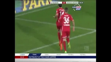 "Победа номер 100 за ""Фрайбург"" в елита – 3:1 над ""Вердер"""