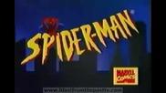Отварящите заглавие на голямата анимация Спайдър - Мен (1994-1998)