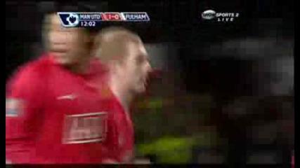 Man Utd - Fulham 1:0 Scholes.avi