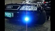 Audi A6 с 25000к H I D (xenon) фарове за мъгла + 6000к на късите