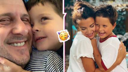 Едно съкровище на 6 годинки: Диляна Попова и Асен Блатечки празнуват рождения ден на сина си