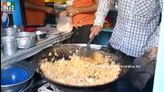 Бърза Храна на улицата .. How To Make Schezwan Fried Rice - Taddev - Mumbai Street food