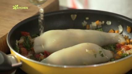 ''Домашни рецепти с Йоли'' - Пълнени калмари с яйца и зеленчуци