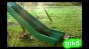 Котки На Хлъзгава Пързалка - Смяхх
