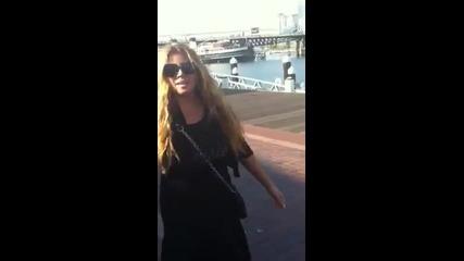Indira Radic - Pozdrav za fanove - (Sydney,Australija 2012)