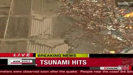Япония беше разтресена от 10 м. цунами (щетите са неописуеми)