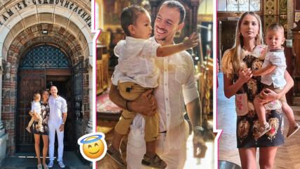 Алекс и Дани Петканови направиха кръщене на малкия Габриел, ето коя е звездната му кръстница!