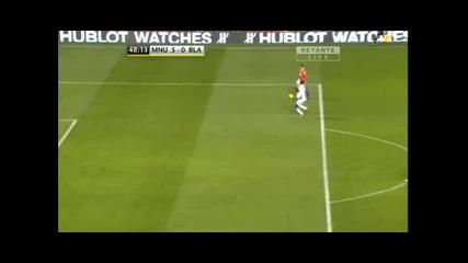 Манчестър Юнайтед - Блекбърн 5 - 0 гол на Нани