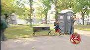 Скрита Камера: Пинокио седи на пейката