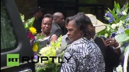 USA: Casket of police shooting victim Walter Scott taken for burial