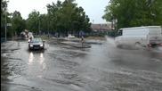 Порой удави Хасково, улиците под вода