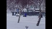 Сняг в Свищов 08.02.2010 Гледай!!!