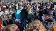 France: Police clear rally of homeless people in front of Paris City Hall