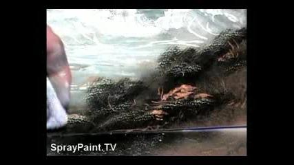 Spray Paint - Ocean Waves