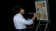 S11 Радостта на живописта с Bob Ross E08 - залез в овал ღобучение в рисуване, живописღ