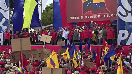 Venezuela: Maduro leads march against 'terrorism' in Caracas